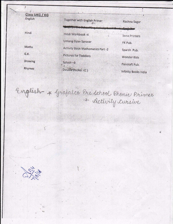 Ukg Hindi Book