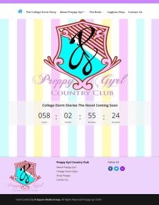 Screen Shot of the Preppy Gyrl Country Club Home page