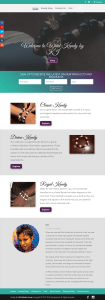 Screen shot of the Wrist Kandy Website home page.