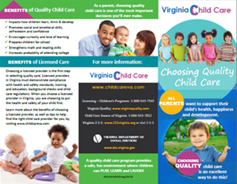 New Child Care Landing Page Design Virginia Department