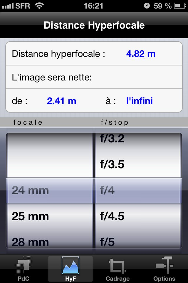 DOF Plus pour iPhone