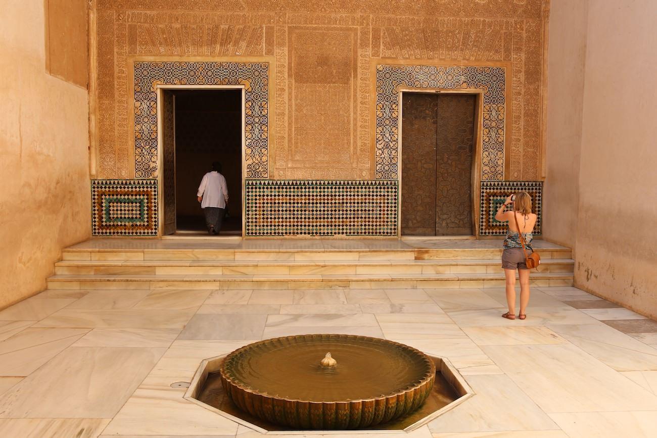 Une des cours de l'Alhambra de Grenade