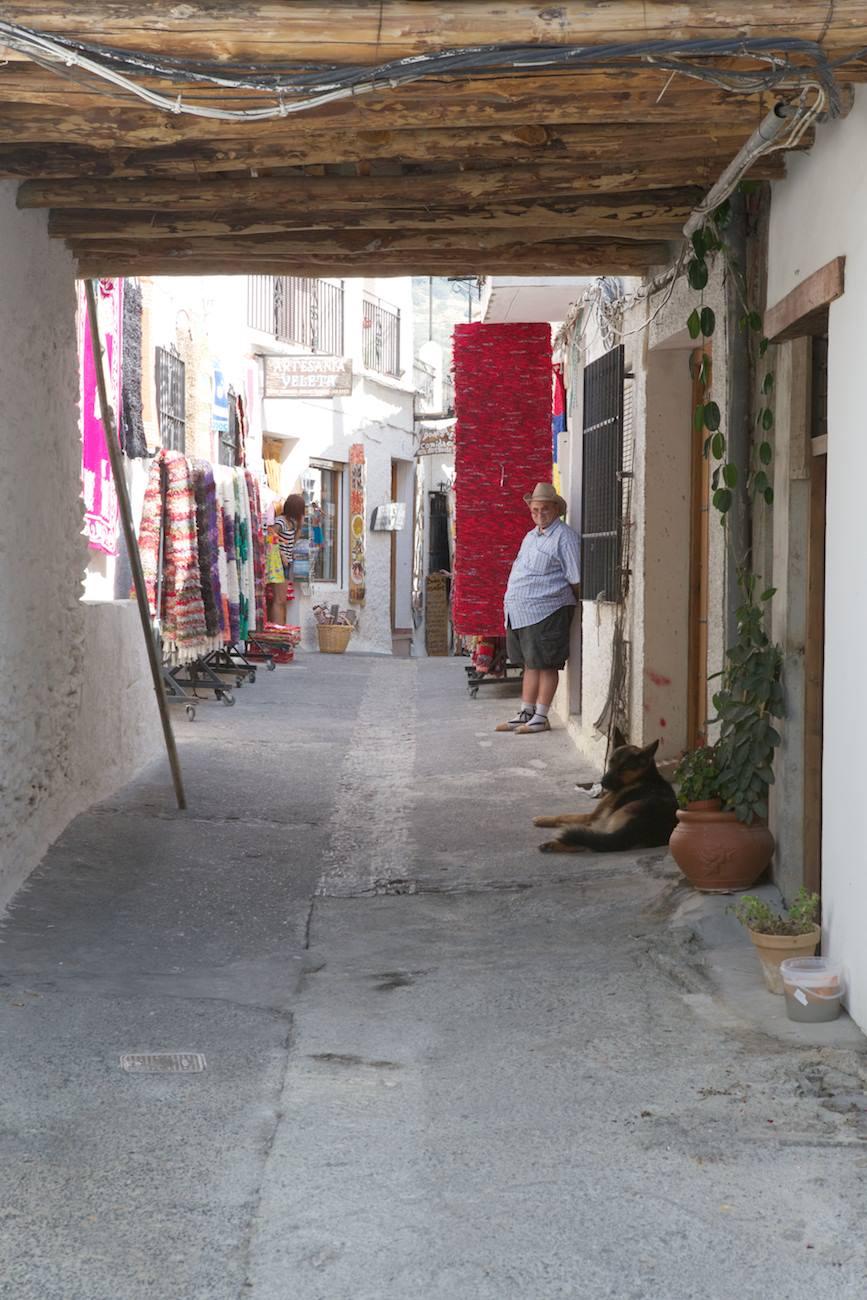 Le vendeur de tapis de Pampaneira
