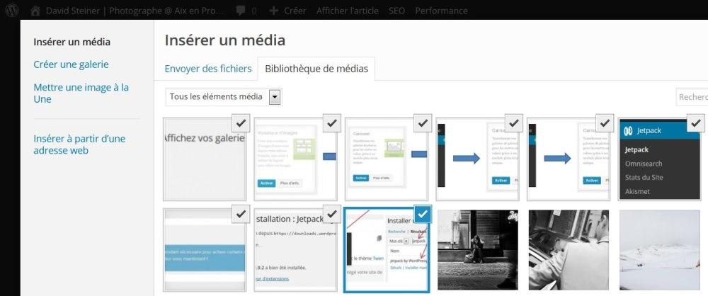 Galerie WordPress