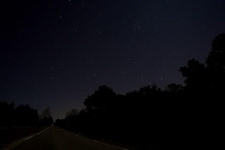 La route sous les étoiles