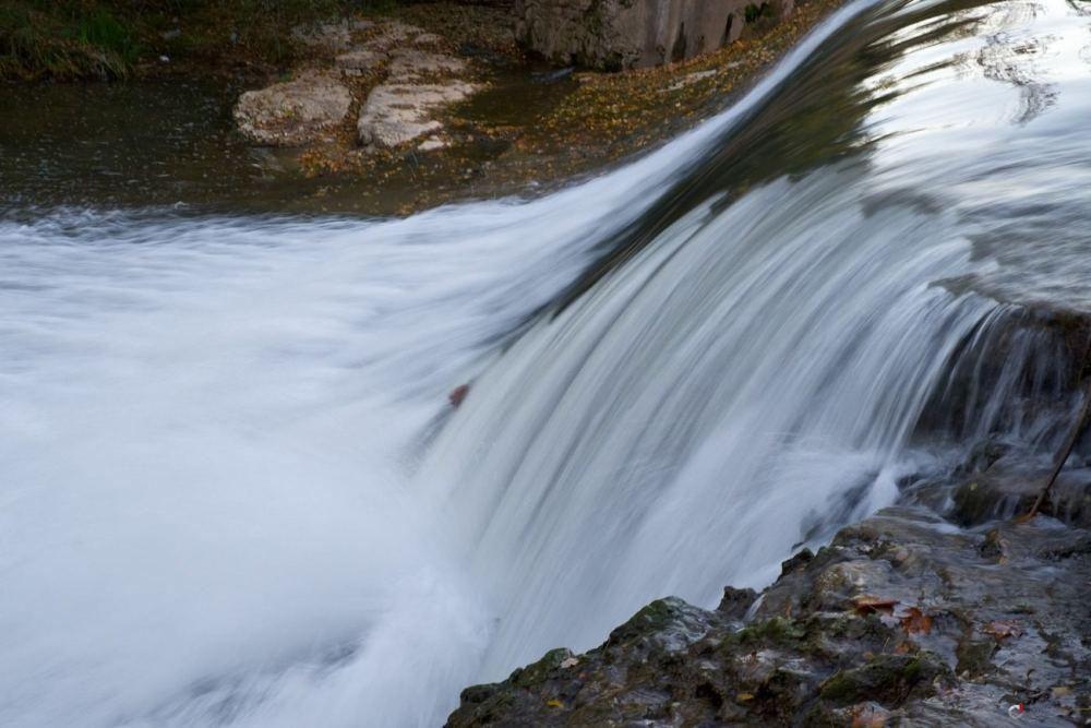 Chute d'eau en pose longue