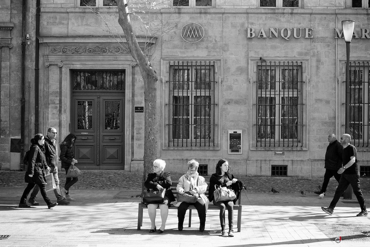 Street photo sur le cour Mirabeau