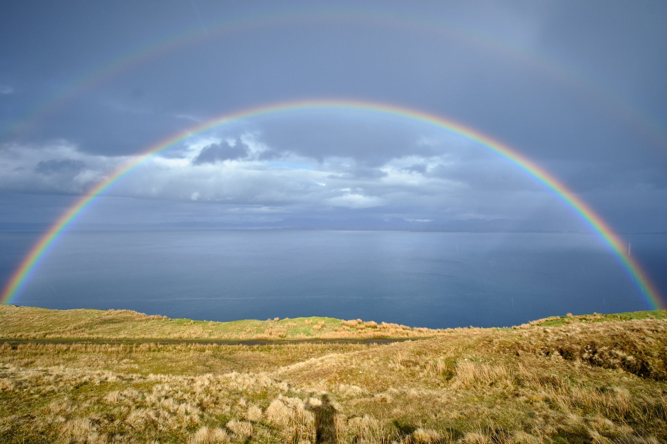 Double rainbow sur l'île de Skye