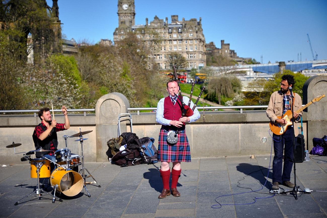 Musique de rue à Edimbourg