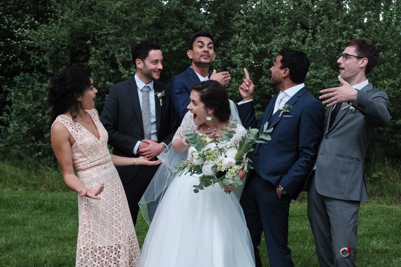 Photo de groupe au château grand Boise à Trets