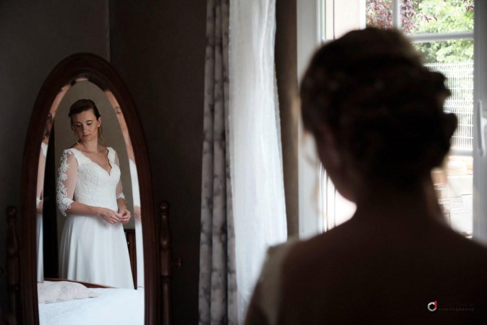 passage de robe de la mariée