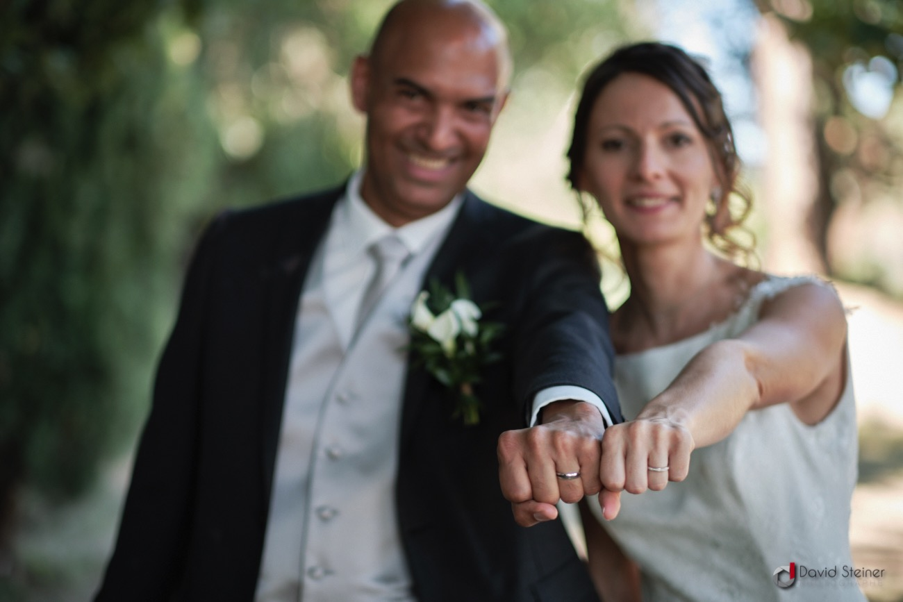 Alliances des mariés au domaine du Vert Moulin