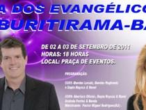 Evangélicos em festa em Butirama