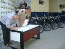 Viabahia entrega novas motos à Polícia Rodoviária Federal