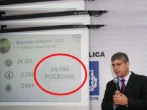 34 mil policiais garantem seguranças nas eleições
