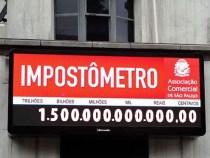 Impostômetro registra R$ 1,3 trilhão nesta segunda-feira
