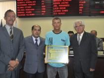 Câmara homenageia o Campeão Baiano de Montain Bike