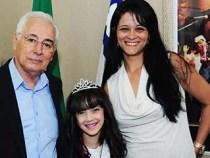 Guilherme Menezes recebe Miss Bahia Infantil