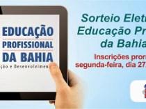 Sorteio Eletrônico da Educação Profissional