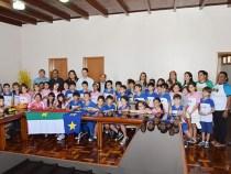 Crianças visitam Prefeitura de Conquista em projeto educacional