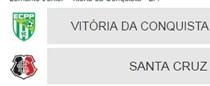 ECPP X Santa Cruz pela Copa do Brasil