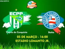 Ingressos à venda para ECPP X Bahia no domingo
