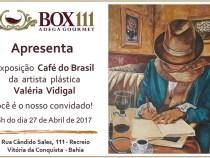 Exposição Valéria Vidigal na Adega Gourmet Box 111