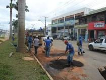 PMVC retoma trabalho da operação tapa buracos
