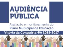 Audiência Pública nesta terça, 06: Plano Municipal de Educação