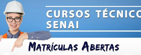 Cursos técnicos: SENAI abre inscrições com 100 bolsas deestudo para todo o estado