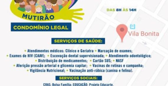Mutirão Condomínio Legal movimenta Vila Sul e Vila Bonita