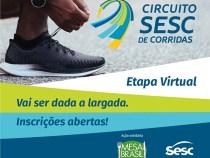 Circuito Sesc de Corridas promove etapa virtual solidária