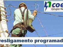 COELBA: Desligamento de energia programado dias 26 e 27 em Conquista