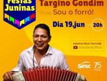 Sesc Bahia antecipa festejos juninos com live de Targino Gondim