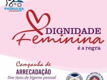 Patrulha Solidária lança campanha para arrecadar itens íntimos femininos