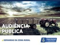 Câmara realiza Audiência Pública hoje para tratar das demandas da Zona Rural