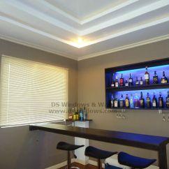 Living Room Mini Bar Boston Venetian Blinds Featured At Makati City Philippines