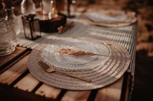 Hochzeitsdekoration im boho Stil