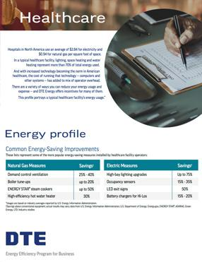 healthcare energy profile