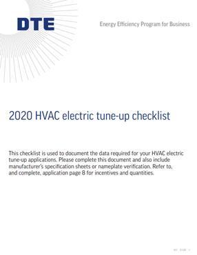 HVAC Tune-up Checklist