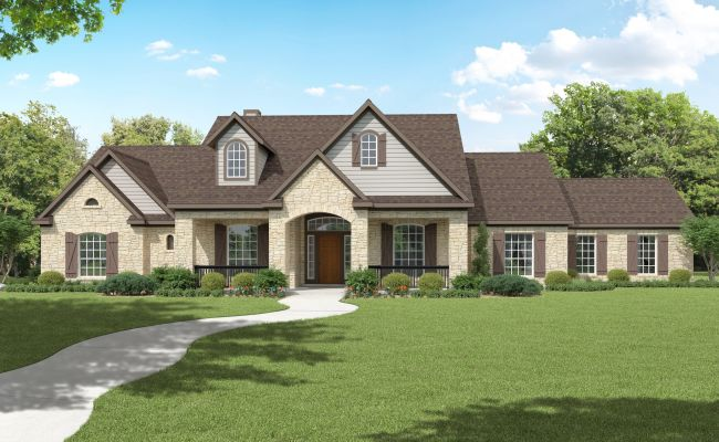 2 504 Sq Ft House Plan 4 Bed 3 Bath 1 Story The