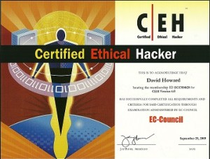 Certified Ethical Hacker Certification David Howard