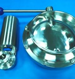 large diameter hygienic butterfly valve 8 inch sanitary butterfly valve dingten industrial inc  [ 3508 x 2481 Pixel ]