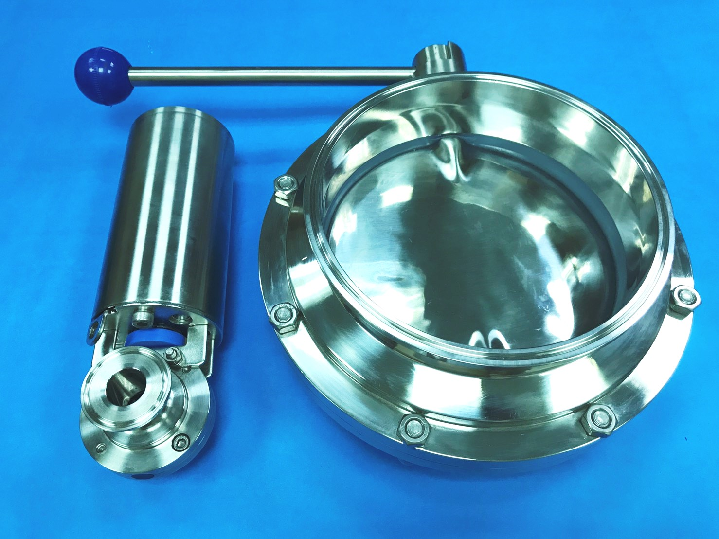 hight resolution of large diameter hygienic butterfly valve 8 inch sanitary butterfly valve dingten industrial inc
