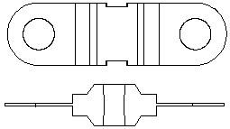 200 Amp Bolt Down Midi M5 Blade Fuse