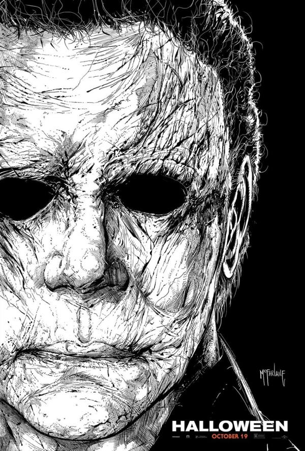 2018 Halloween Michael Myers Drawing