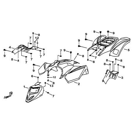 TGB Hornet 90cc Body Parts
