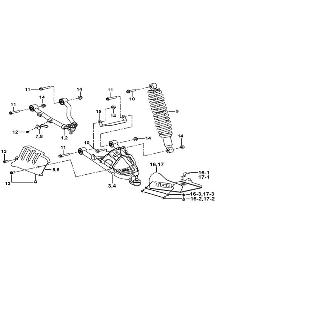 SHOCK ABSORBER ASSY., FRONT