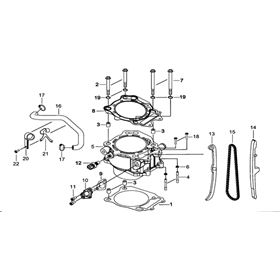 TGB Blade 250 Cylinder Spare Parts