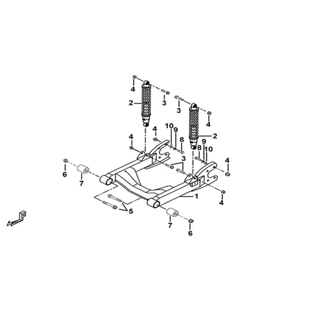 Tgb Blade 425 Frame Parts Rear Suspension